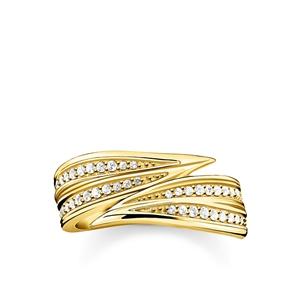 ringar - ring Blad guld