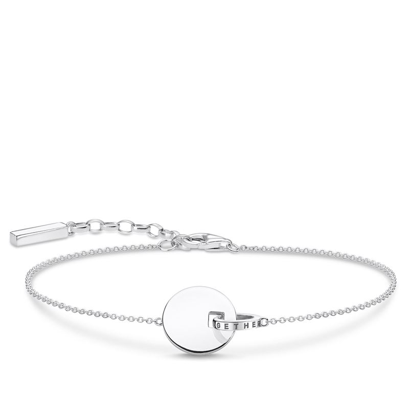 armband - Armband Together-mynt med ring silver