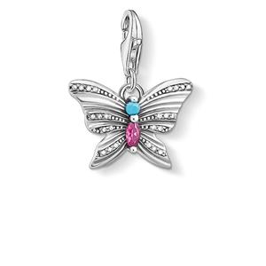 berlocker - Charm hängsmycke fjäril silver