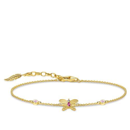 armband - Armband fjäril guld