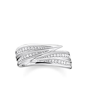 ringar - ring Blad silver