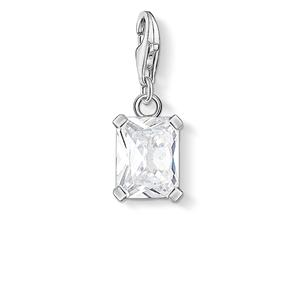 berlocker - Charm hängsmycket vit sten