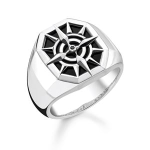 ringar - ring kompass svart